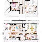 House of Lorelai & Rory Gilmore - Both Floorplans by Iñaki Aliste Lizarralde