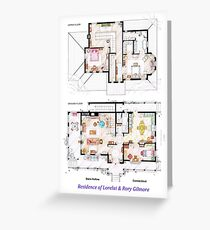 House of Lorelai & Rory Gilmore - Both Floorplans Greeting Card