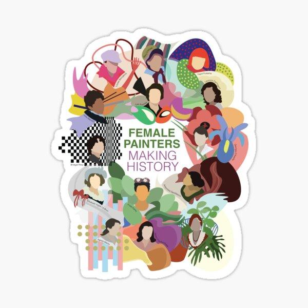 Female Painters Making History Sticker