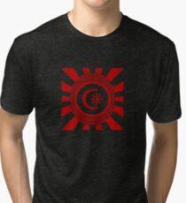 Mandala 34 Version 2 Yin-Yang Colour Me Red  Tri-blend T-Shirt