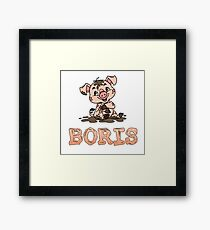 Boris Piggy Framed Print