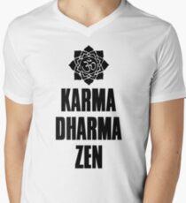Karma Dharma Zen Men's V-Neck T-Shirt