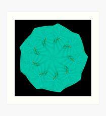 WDVT Mandala - 0048 - Bird In Bloom Art Print