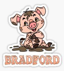 Bradford Piggy Sticker