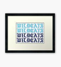 wildcats wildcats wildcats wildcats Framed Print