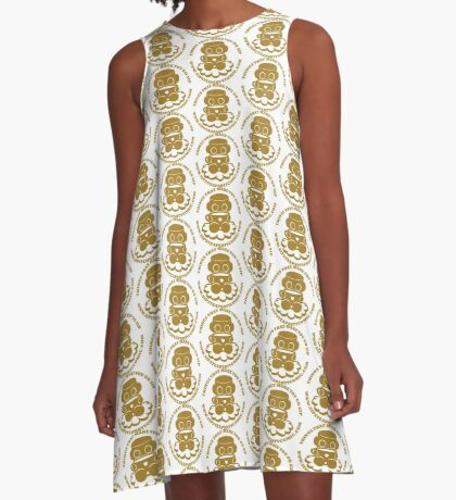 STPC: Things That Make You Go Sip (Gold O'BOT) 1.0 A-Line Dress