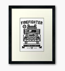 Fire Fighter  Framed Print