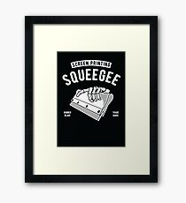 screen printing squeegee Framed Print