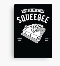 screen printing squeegee Canvas Print