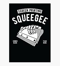 screen printing squeegee Photographic Print