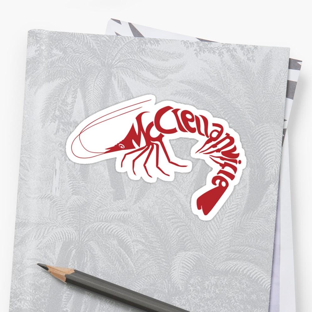 McClellanville Shrimp Logo Sticker Front