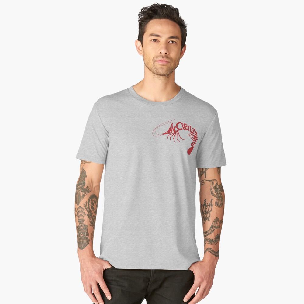McClellanville Shrimp Logo Men's Premium T-Shirt Front