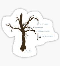 Court poème sur l'hiver Sticker
