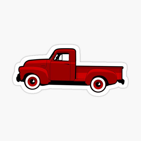 1954 Little Red Truck Sticker