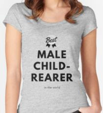 Father's Day Best Male Childrearer Women's Fitted Scoop T-Shirt