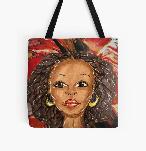 Afrocentric All Over Print Tote Bag