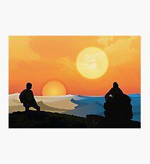 Hero's Journey: Binary Sunset Photographic Print