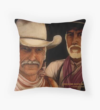 Lonesome Dove- Detail Study Throw Pillow