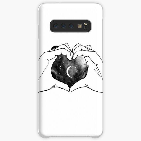 heart moon hands Samsung Galaxy Snap Case