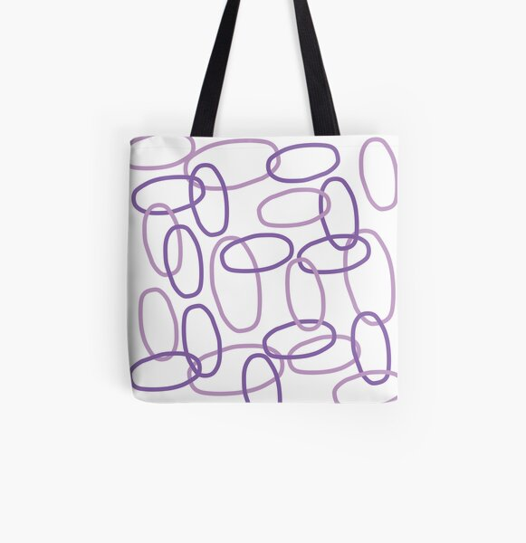 Lilac Cat Links All Over Print Tote Bag