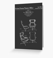 Iconic Mid Century Design Eames Lounge Chair Patent Drawings Greeting Card