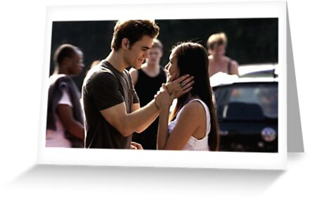 Stelena Stefan Elena The Vampire Diaries Greeting Cards By