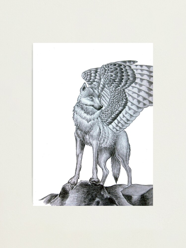 Alternate view of Winged Wolf  Photographic Print