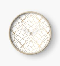 Gold geometric pattern Clock