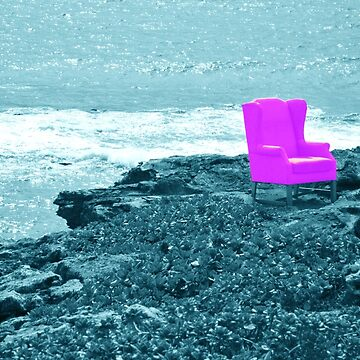 Pink Chair with Selective Colour by EucalyptusBear