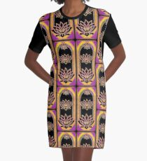 The Magical Lotus Emanation Graphic T-Shirt Dress