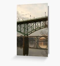 Knoxville Bridge Reflections Greeting Card