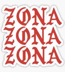 University of Arizona Zona Pablo Kanye West Text Sticker