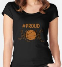 #PROUD MOM BASKETBALL  Women's Fitted Scoop T-Shirt
