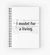Ich modelliere für einen Lebensunterhalt. Spiralblock