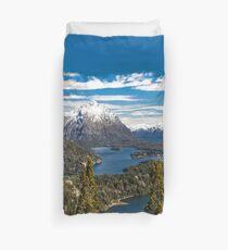 Lake Nahuel Huapi and mountains (Patagonia - Argentina) Duvet Cover