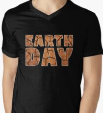 Drought Climate Change Awareness Earth Day 2018 Men's V-Neck T-Shirt