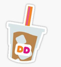 Dunkin Donuts Iced Coffee Logo Sticker