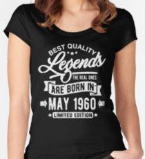 Camiseta entallada de cuello redondo Legends born in may 1960