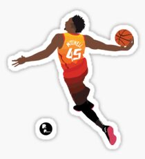 Donovan Mitchell 'The Spida' Dunk Minimalist Art // Phone case, shirts, stickers and more Sticker