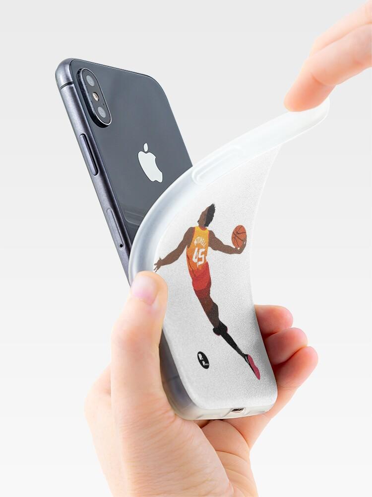 Alternative Ansicht von Donovan Mitchell 'The Spida' Dunk Minimalistische Kunst // Telefonkasten, Hemden, Aufkleber und mehr iPhone-Hülle & Cover