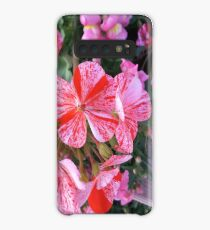 Pink Geraniums and Snapdragons Case/Skin for Samsung Galaxy