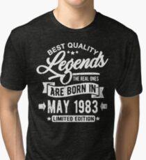 Camiseta de tejido mixto Legends born in may 1983