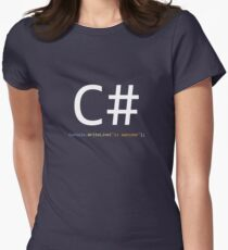 C# is awesome - Computer Programming Women's Fitted T-Shirt