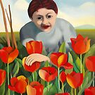 my mother among the tulips by federico cortese