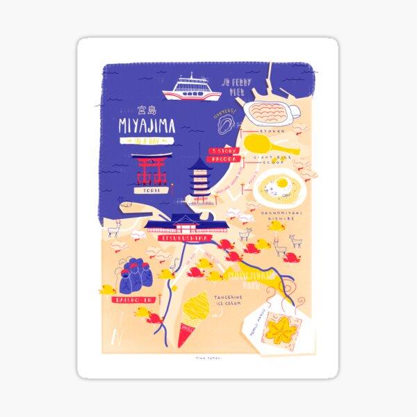 Miyajima map Sticker