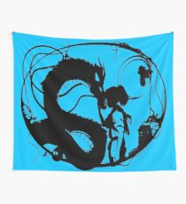 Chihiro and Haku - Spirited Away Wall Tapestry