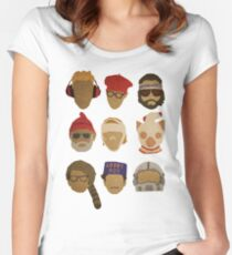 Wes Anderson's Hats Fitted Scoop T-Shirt