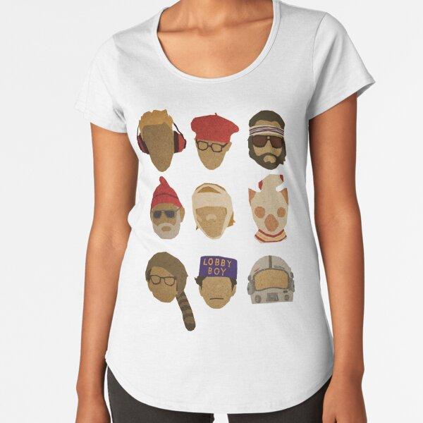 Wes Anderson's Hats Premium Scoop T-Shirt