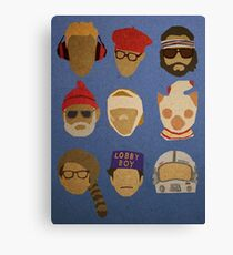 Wes Anderson's Hats Canvas Print
