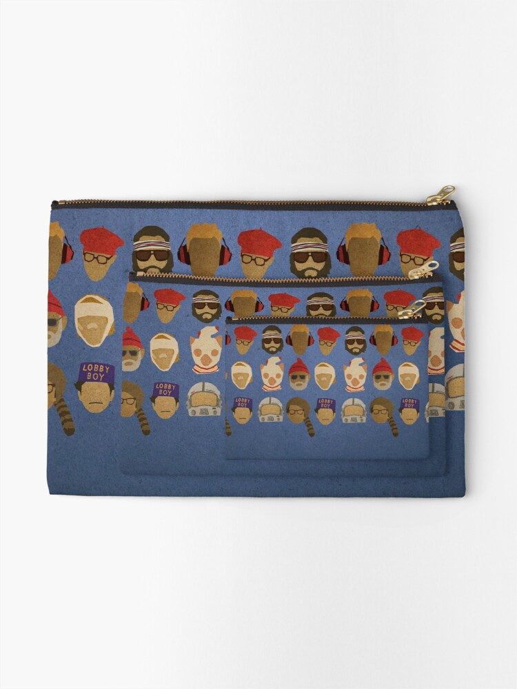 Alternate view of Wes Anderson's Hats Zipper Pouch